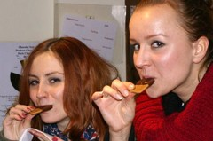 Wikimedia image, eating chocolate